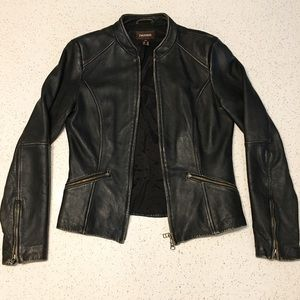 EUC Danier Moto Zip Up Leather Jacket